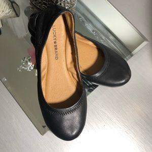 Lucky Brand Emmie Women's  Leather Ballet Flats